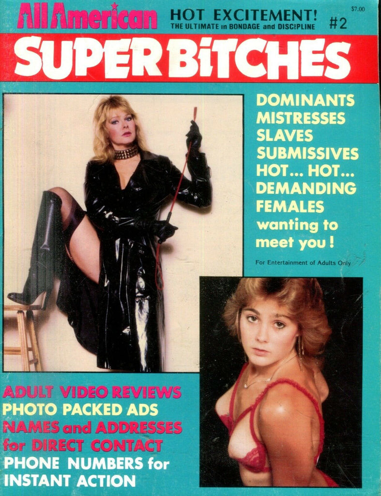 All American Super Bitches Contact Magazine #2 1980's 112918lm-ep