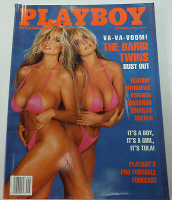 Playboy Adult Magazine Barbi Twins September 19911 080615lm-ep - New