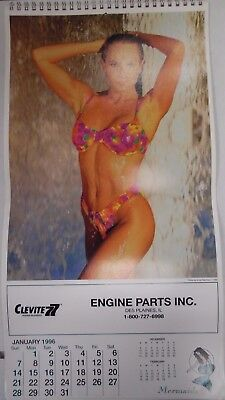 Mermaids 1996 Advertising Wall Calendar Clevite Engine Parts Inc. 103017lm-ep