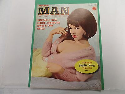 Modern Man Busty Adult Magazine Jaqulin Renee March 1965 ex 021516lm-ep