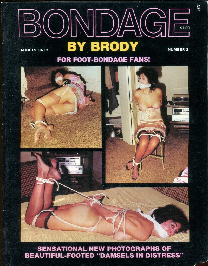 Bondage by Brody Magazine For Foot Bondage Fans! Lisa #2 1984 112119lm-ep