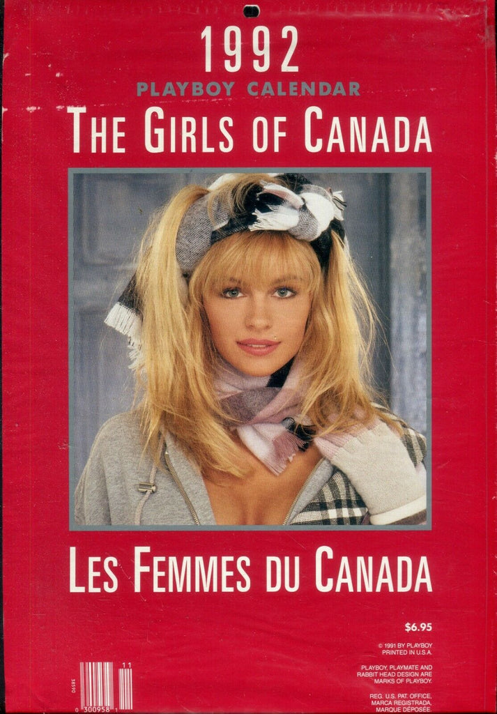 Playboy Playboy 1992 Calendar The Girls Of Canada 122319lm-ep - Used