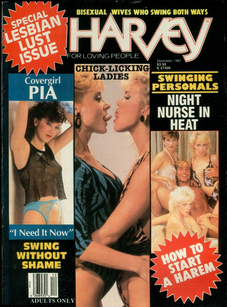 Harvey Magazxine Pia December 1987 Lesbian Lust Issue 112219lm-ep - Used