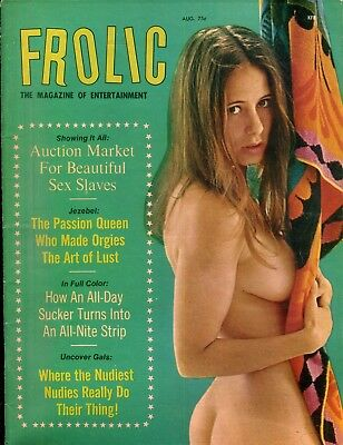 Frolic Busty Magazine Passion Queen Jezebel August 1971 110618lm-ep
