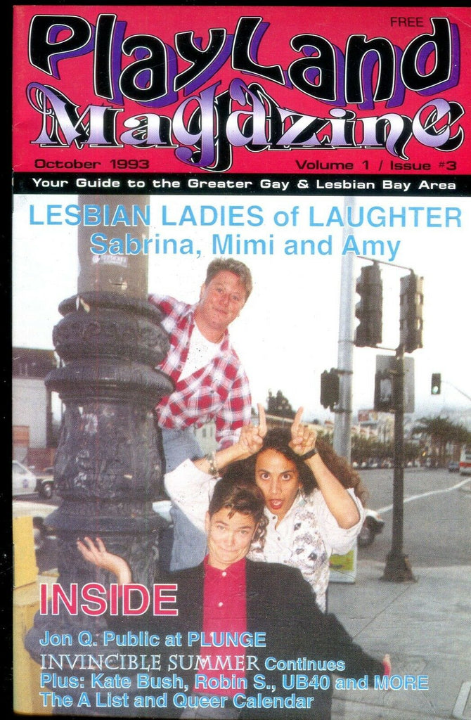 Play Land Magazine Guide To Gay & Lesbian Bay Area October 1993 012419lm-ep