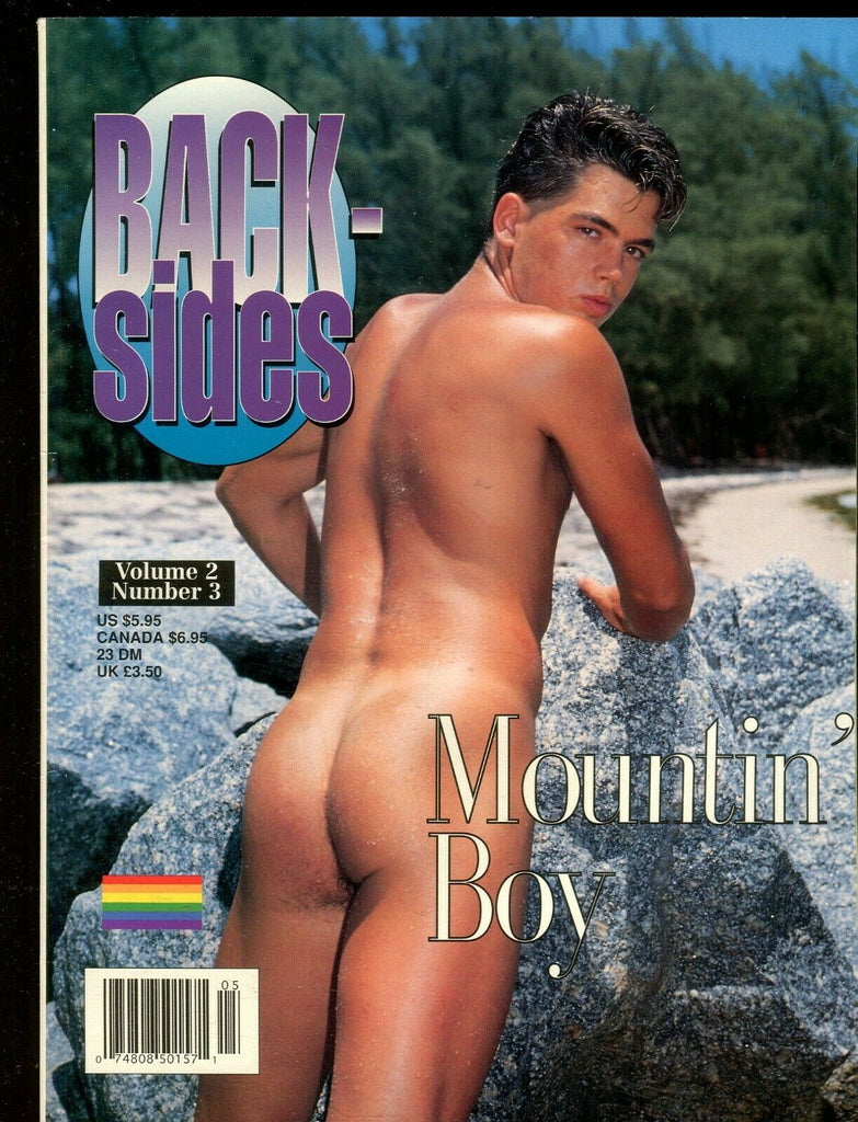 Back-Sides Gay Magazine Cover Guy Aaron vol.2 #3 May 1997 111519lm-ep2