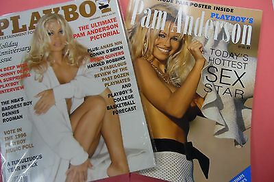 Lot Of 2 Playboy's Magazine Pam Anderson May 1996/ January 1996 062416lm-ep4 - Used
