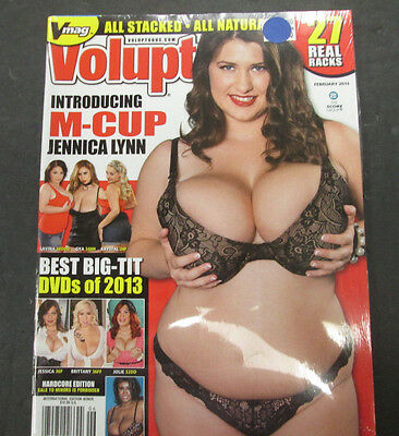 Voluptuous Adult Magazine M-Cup Jennica Lynn February 2014 ex 061215lm-ep