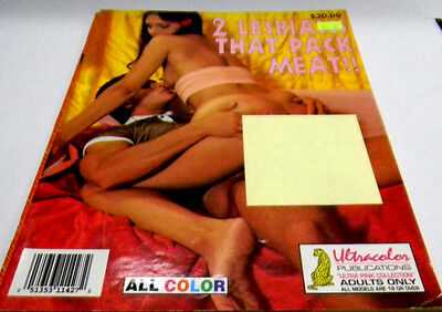 2 Lesbians That Pack Meat Adult Magazine 1995 ex 101513lm-ep - Used