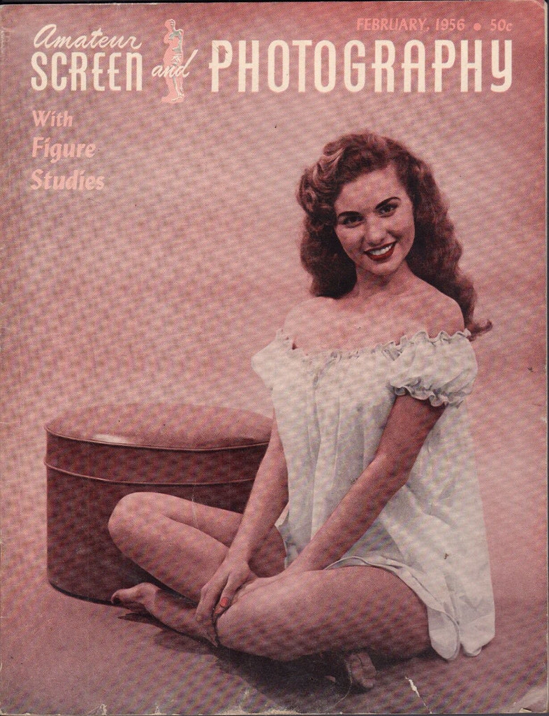 Amateur Screen And Photography February 1956 Vintage Pin-ups VG 110916DBE