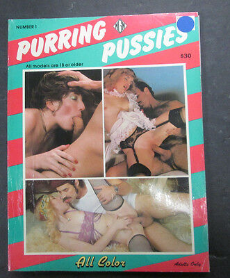 Purring Pussies Adult Magazine #1 vg 062415lm-ep