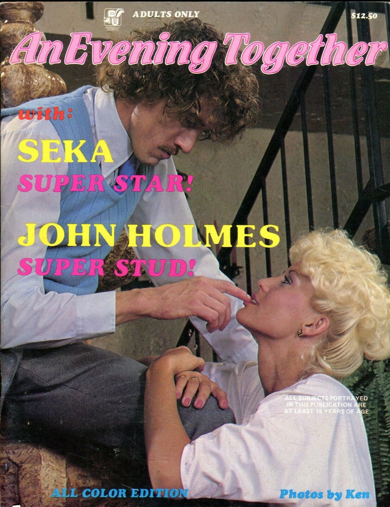 An Evening Together Magazine Seka & John Holmes 1980's 061719lm-ep - New