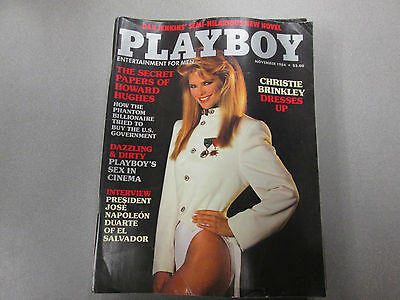 Playboy Adult Magazine Christie Brinkley November 1984 vg 120814lm-ep - Used