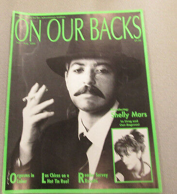On Our Backs Lesbian Adult Magazine Shelly Mars August 1990 ex 110114lm-ep