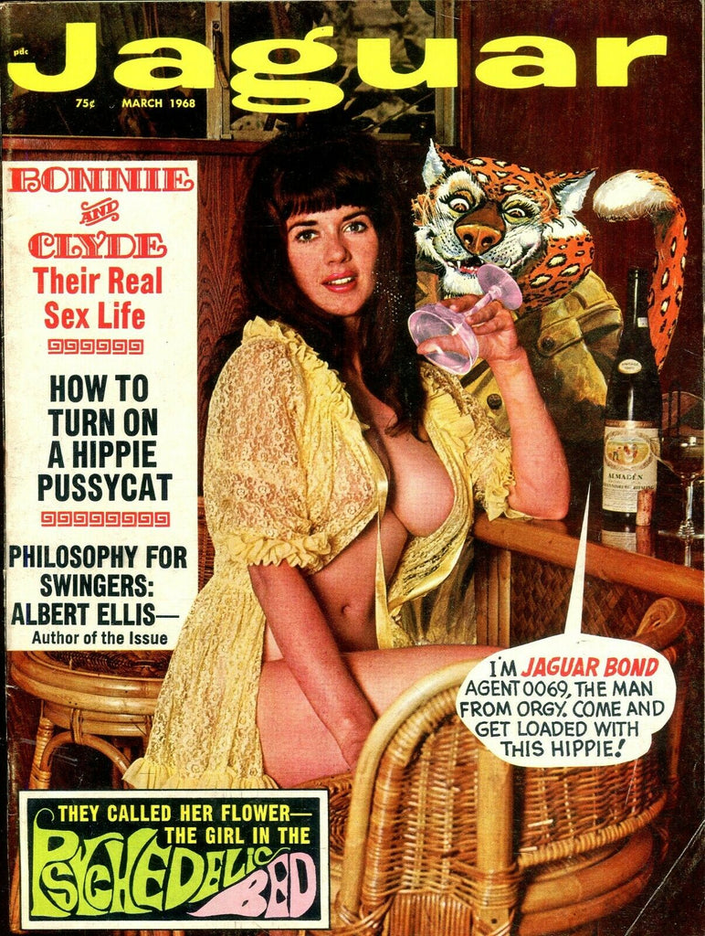 Jaguar Magazine Bonnie& Clyde Real Sex Life March 1968 102519lm-ep