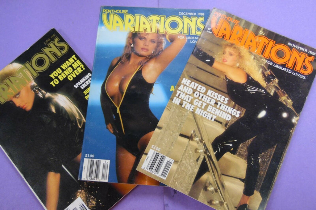 Lot Of 3 Penthouse Variations November/ December 1988 / June 1991 092016lm-ep - Used