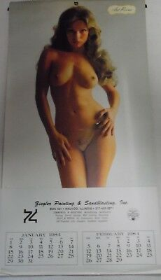 "1984 Advertising Busty Calendar 17"" x 9"" 052218lm-ep - Used"