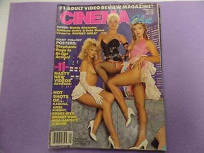 Cinema Blue Adult Magazine Kascha/ Stephanie Rage January 1989 041216lm-ep2