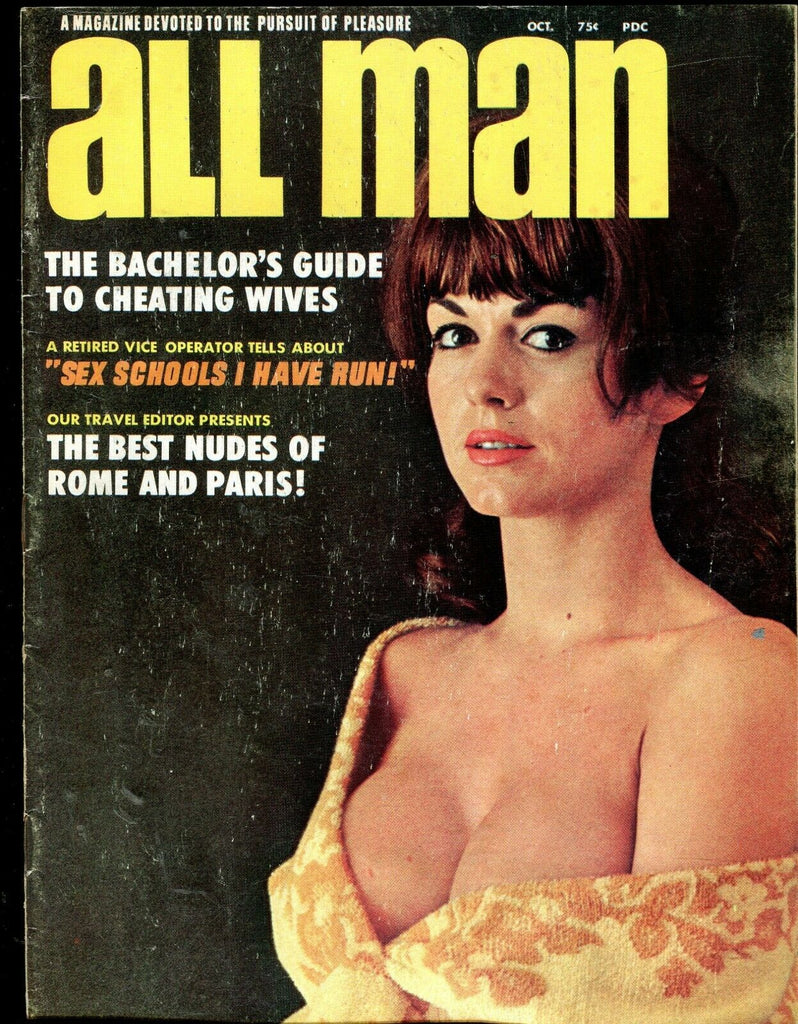 All Man Magazine Best Nudes Of Rome And Paris! October 1967 071019lm-ep