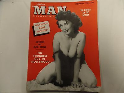 Modern Man Adult Magazine Renee Lavelle February 1956 ex 021316lm-ep