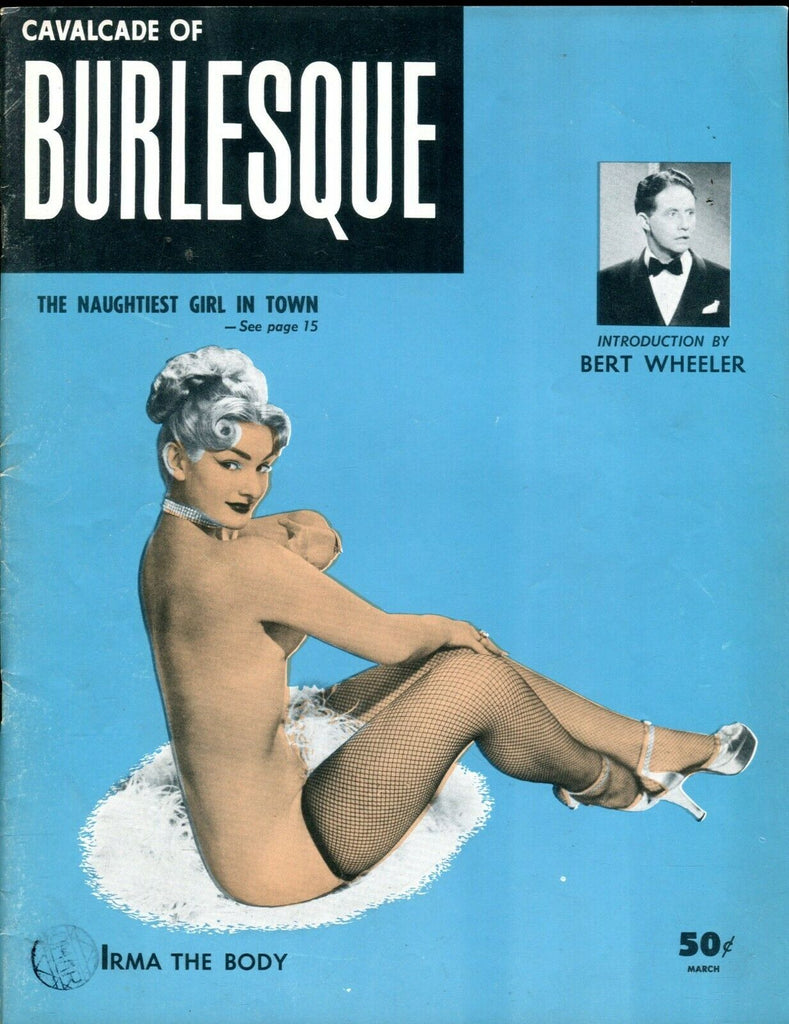 Cavalcade Of Burlesque Magazine Irma The Body March 1954 070519lm-ep2 - Used
