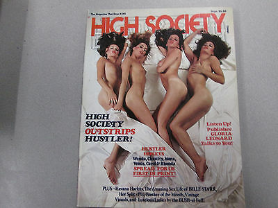 High Society Adult Magazine Wanda/Chasity September 1977 ex 011915lm-ep - New