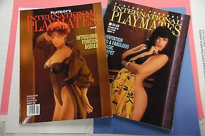 Lot Of 2 Playboy Magazines International Playmates 1992/1993 062716lm-ep - Used