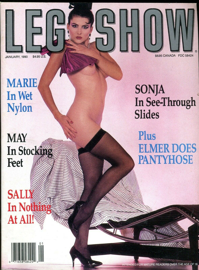 Leg Show Magazine Elmer Batters Does Pantyhose January 1990 072619lm-ep