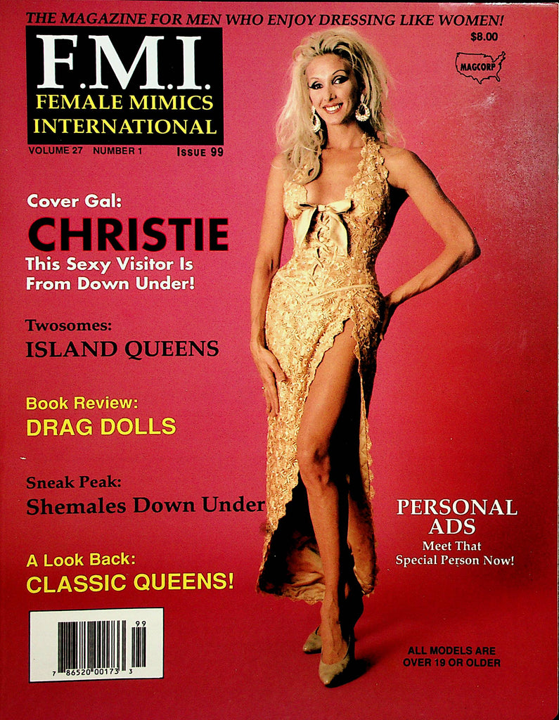 Female Mimics International Crossdressing Magazine  Cover Gal Christie #99 1997 by Magcorp  091520lm-sh