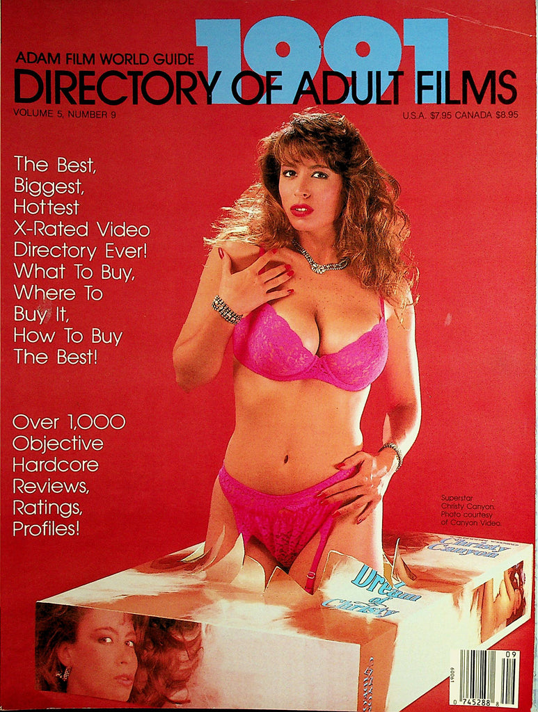 Adam Film World Guide 1991 Directory Of Adult Films  Christy Canyon    091520lm-sh