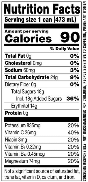 Rowdy Energy Drink Nutrition Facts