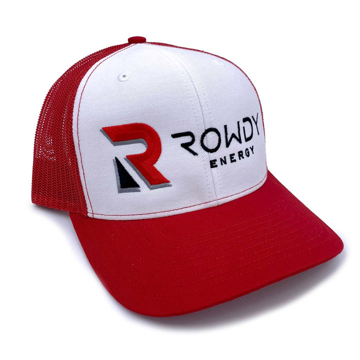 Rowdy Energy Red and White Trucker Hat