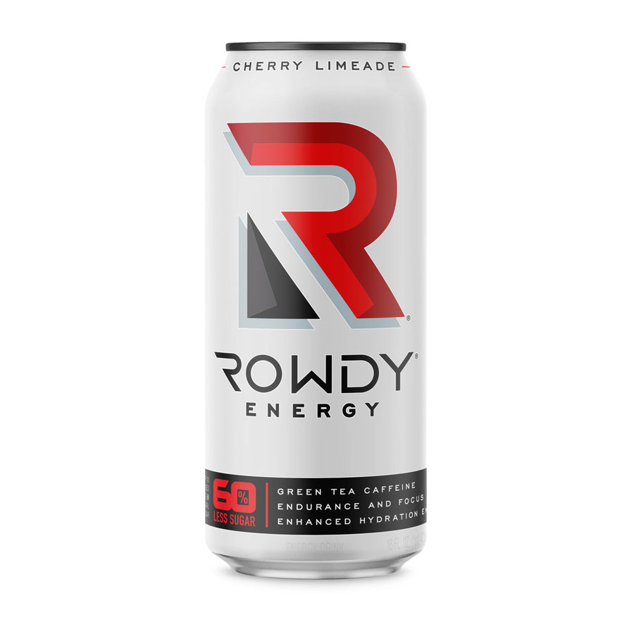 Can of Rowdy Energy Drink Cherry Limeade flavor