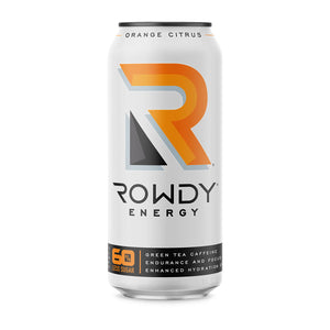 16oz Can of Rowdy Energy Orange Citrus