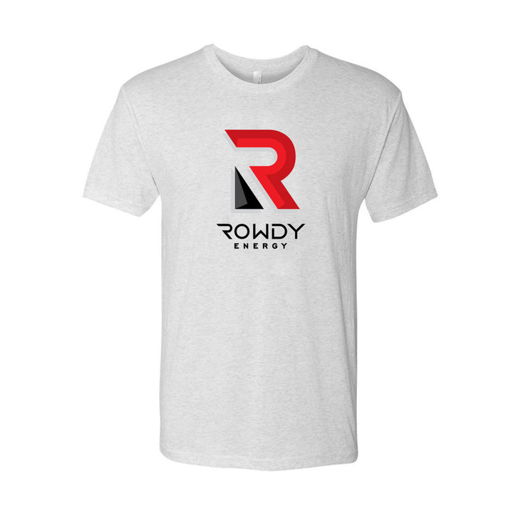Rowdy Energy Big Logo Heather White T-Shirt