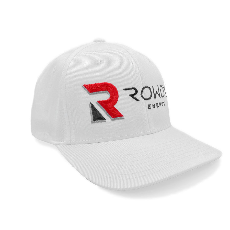 Rowdy Energy Flex Fit All White Hat