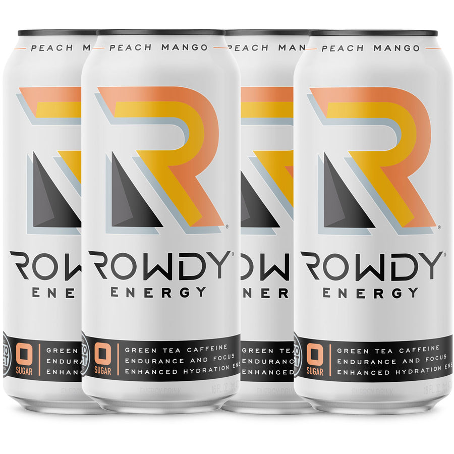 Rowdy Energy Peach Mango 4-Pack
