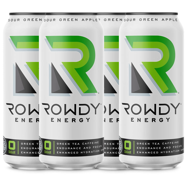 4 cans of Rowdy Energy Sour Green Apple