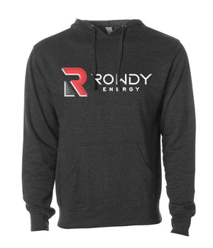 Rowdy Energy Charcoal Heather Color Hooded Sweatshirt