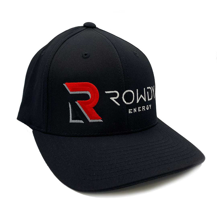 Rowdy Energy Fitted Black Hat