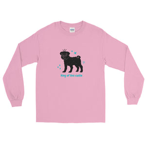 King of This Castle Dog - Men's Long Sleeve Shirt