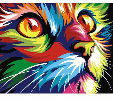Colorful kittens -Painting on number set 40x50cm including list -painting by gene