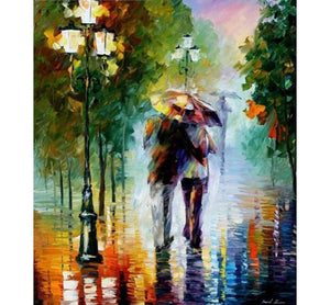 Rain - Painting by number set 40x50cm including list - painting by gene