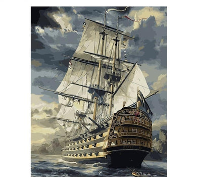 HMS Victory - Painting by number set 40x50cm including frame - painting by gene