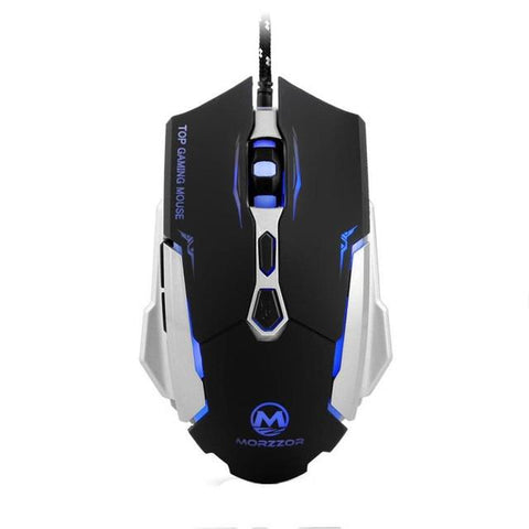 USB 2400 DPI 7D Buttons LED Optical Gaming Mouse