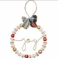 Joy Beaded Ornament