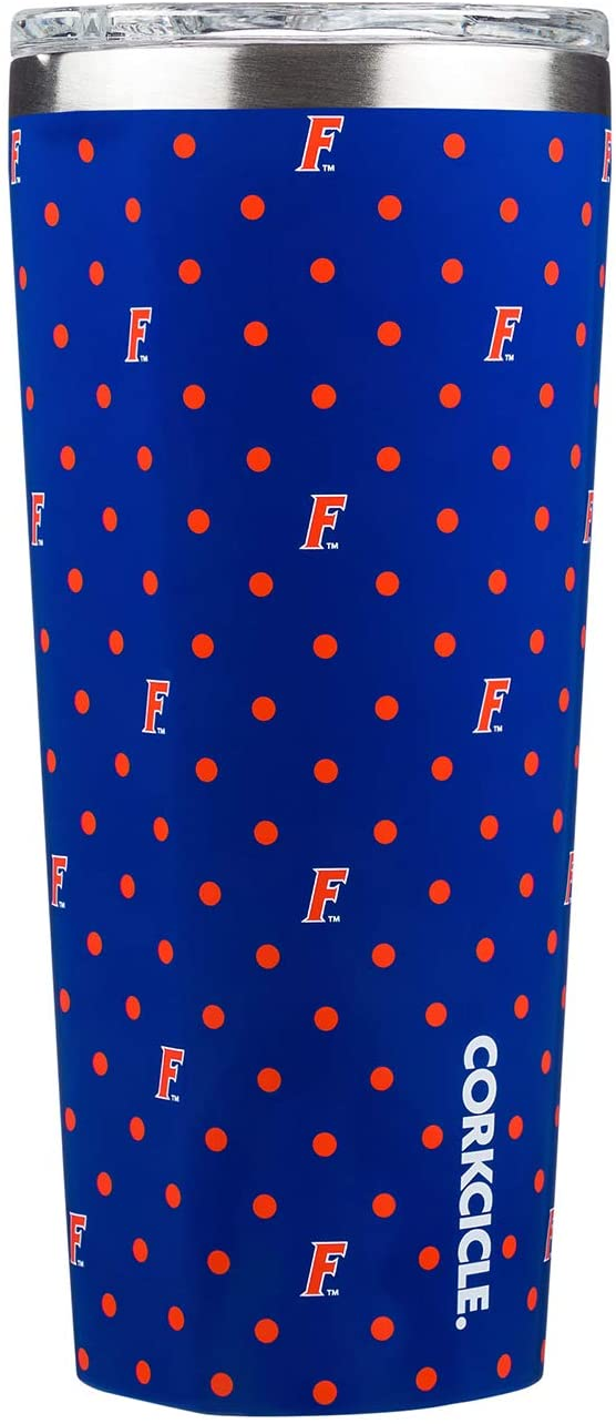 This 24 oz Polka Dot Tumbler features your favorite team logo. Show your team spirit at the next tailgate with this game day line from Corkcicle. Go Gators!!