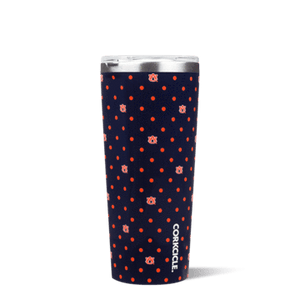 This 24 oz Polka Dot Tumbler features your favorite team logo. Show your team spirit at the next tailgate with this game day line from Corkcicle. Go Tigers!