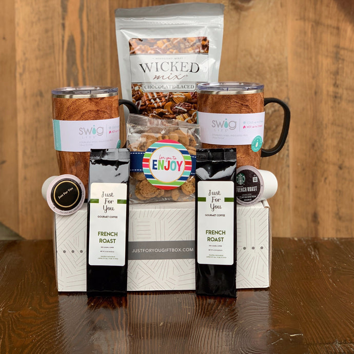 18 oz. Walnut Coffee Mug Wicked Snack Mix (Chocolate or Original) French Roast Coffee Pods Or 1.5 oz. Bag Oh Sugar Chocolate Chip Cookies