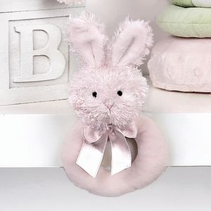 This is adorable pink rattle is part of the Bearington Bear Bunny Collection. Your little one will thoroughly enjoy shaking this little bunny rattle and will bring lots of smiles!